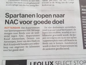 Oefenloop NAC AD Rotterdams Dagblad